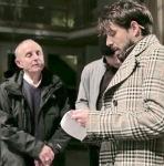 Con Giuseppe Cederna durante una sessione di Rabbia al Teatro Valle Occupato